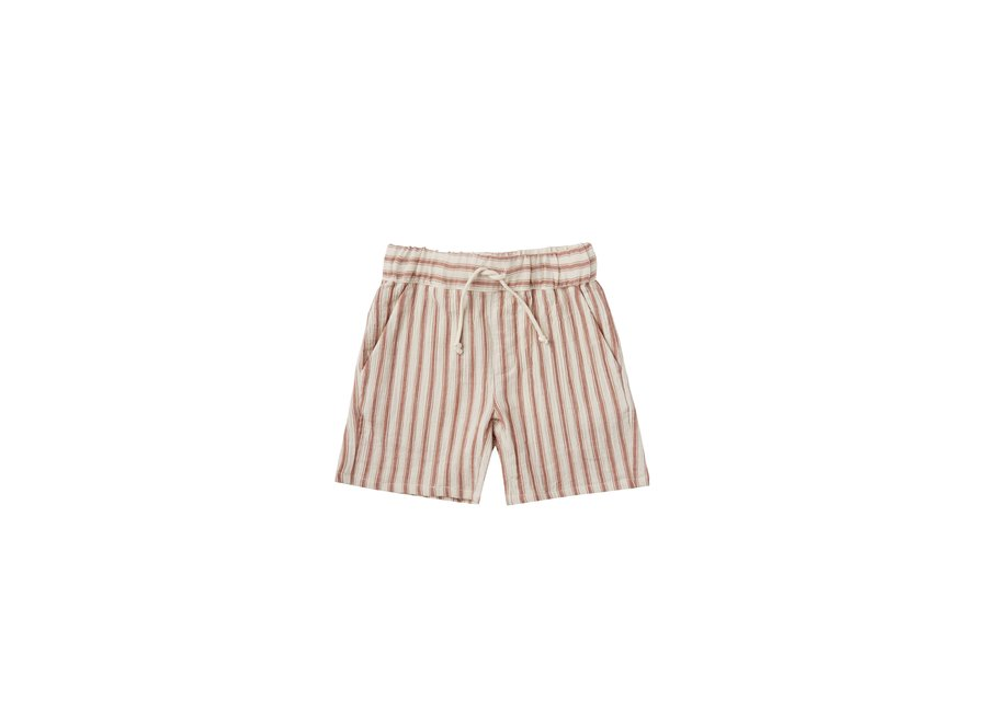 Rylee & Cru Striped Bermuda Shorts Natural Amber