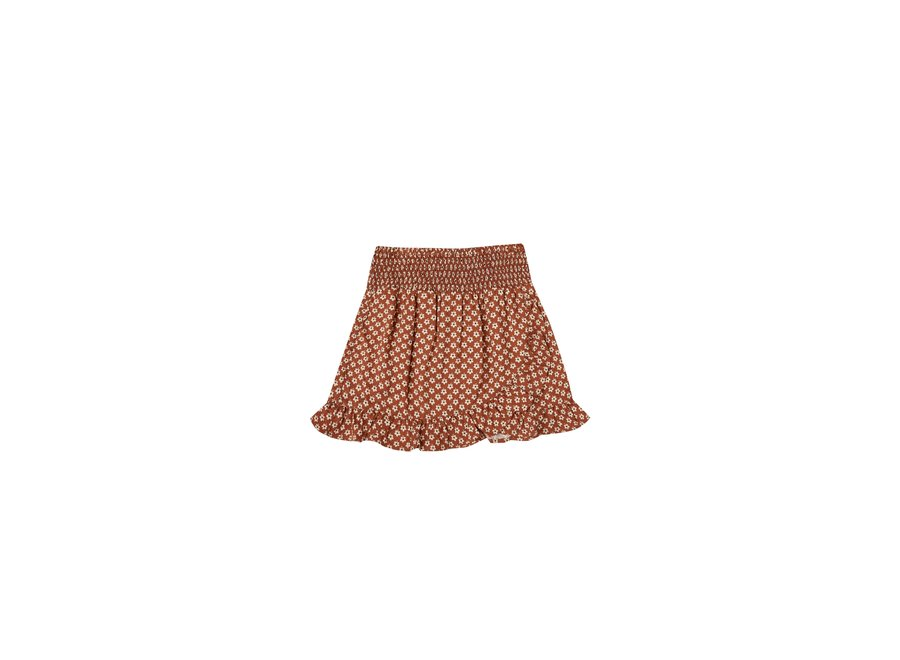 Flower Power Wrap Ruffle Skirt