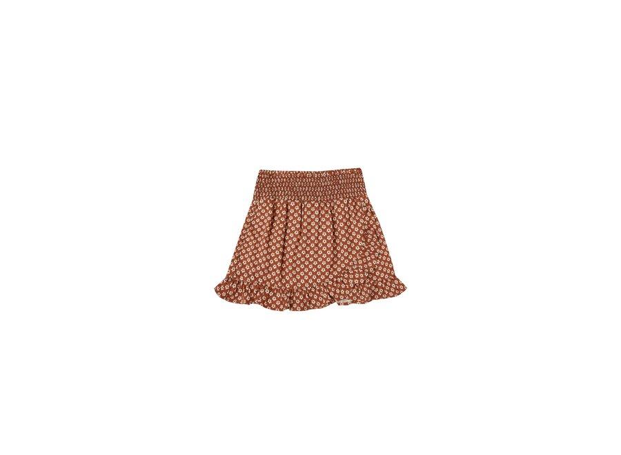 Rylee & Cru Flower Power Wrap Ruffle Skirt Amber