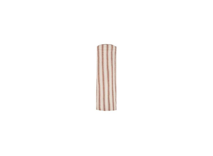 Rylee & Cru Striped Swaddle Amber Natural