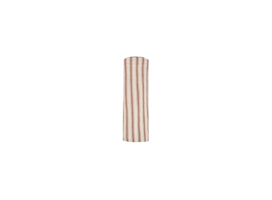 Striped Swaddle Amber Natural