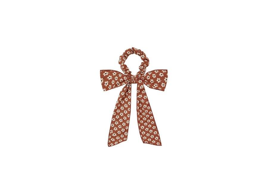 Flower Power Bow Scrunchie Amber