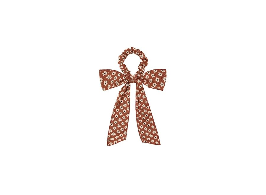 Rylee & Cru Flower Power Bow Scrunchie Amber