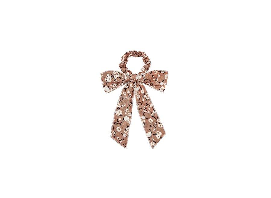 Dahlia Bow Scrunchie Terracotta