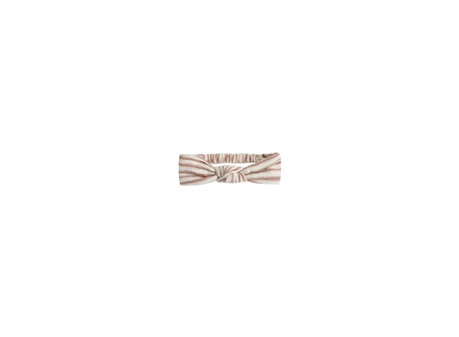 Rylee & Cru Striped Turban Amber Natural