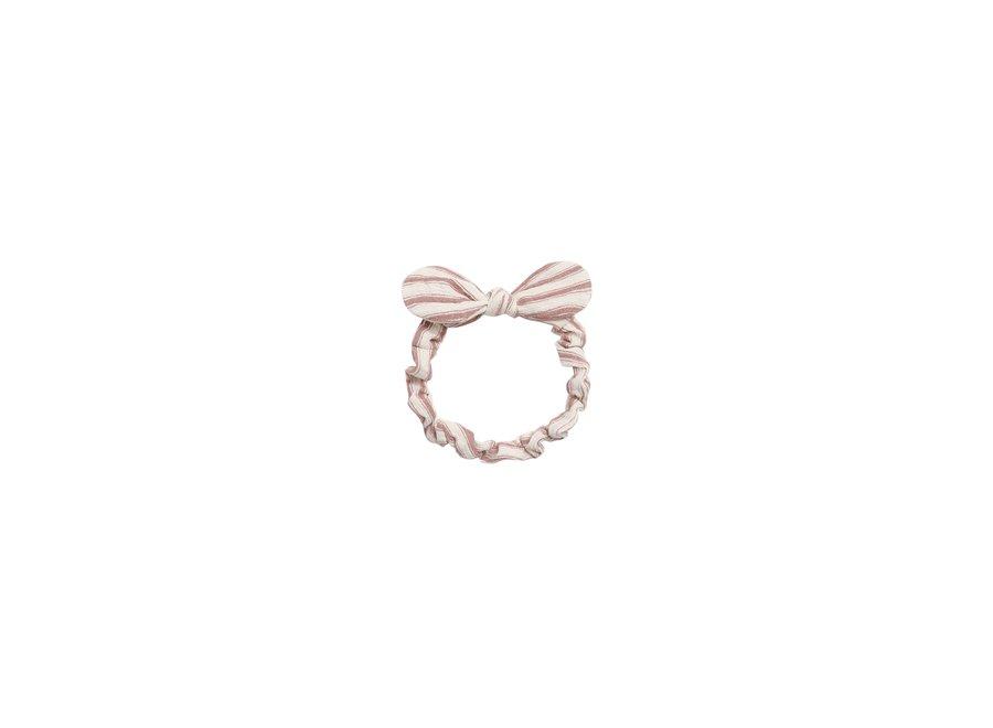 Striped Baby Bow Headband Amber Natural