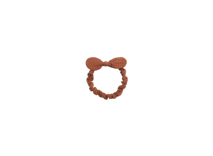 Baby Bow Headband Terracotta