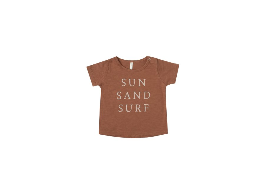 Rylee & Cru Sun Sand Surf Basic Tee Amber