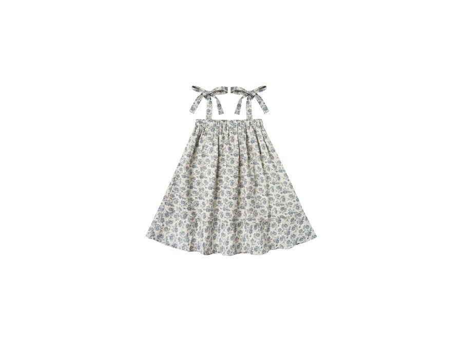 Rylee & Cru Roses Shoulder Tie Dress Ivory
