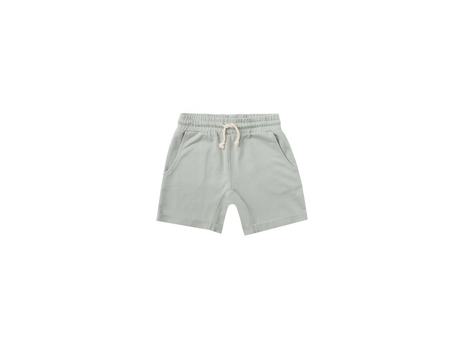 Rylee & Cru Terry Sweat Short Blue Fog