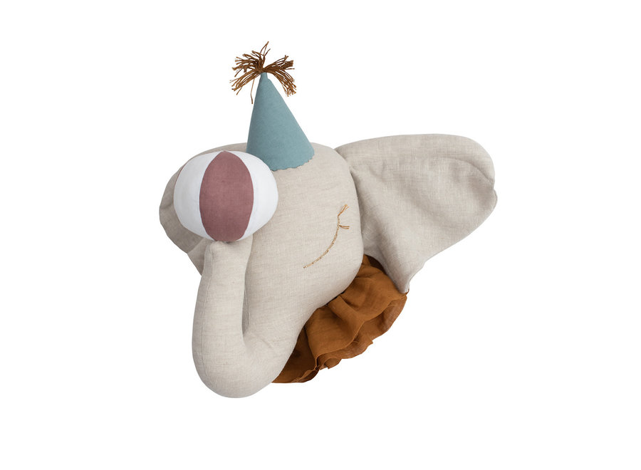 Love Me Decoration Circus Olifant Turquoise Hat
