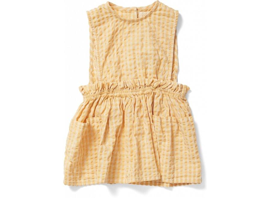 Konges Slojd Acacia Spencer Dress Yellow Check