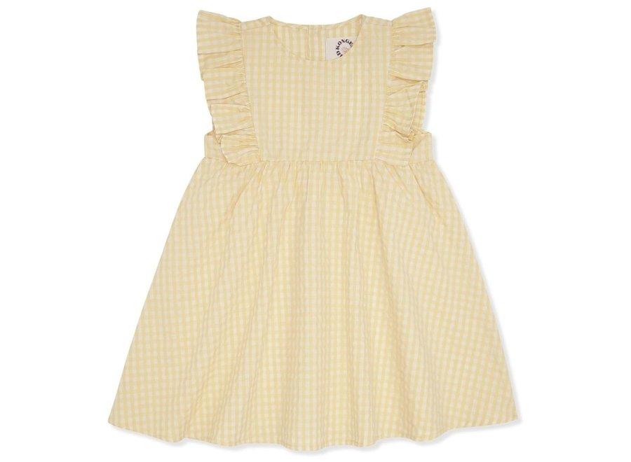 Acacia Emily Dress Yellow Check