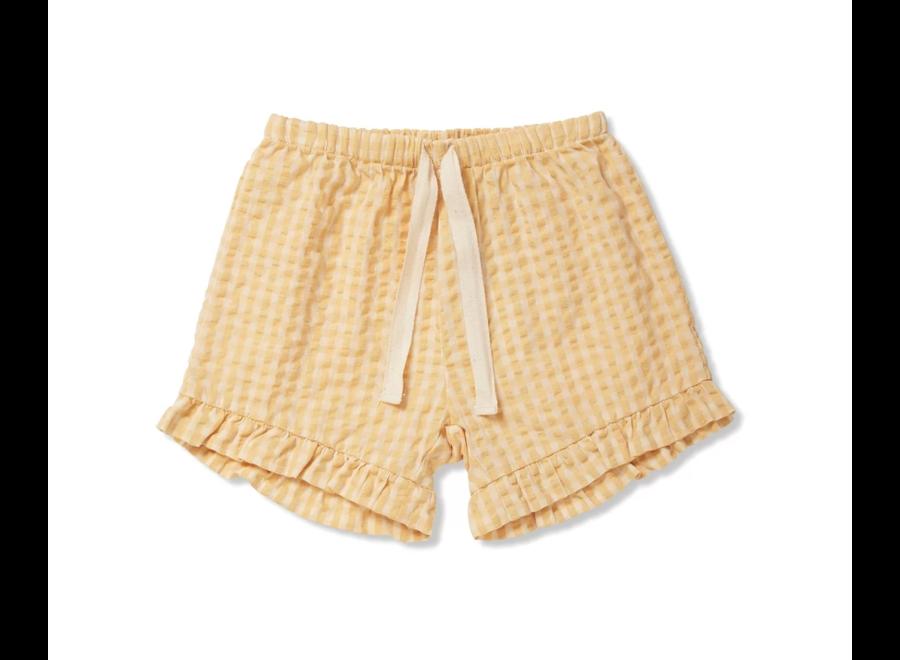 Acacia Shorts Yellow Check