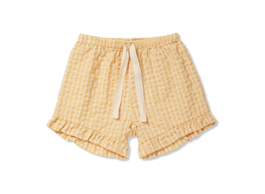 Konges Slojd Acacia Shorts Yellow Check