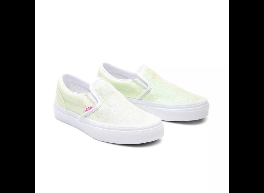 Vans Classic Slip-On Glitter Pink/White