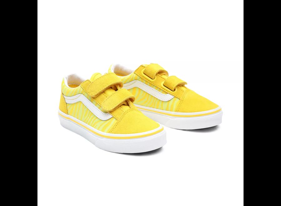 Vans Old Skool V Neon Zebra Yellow