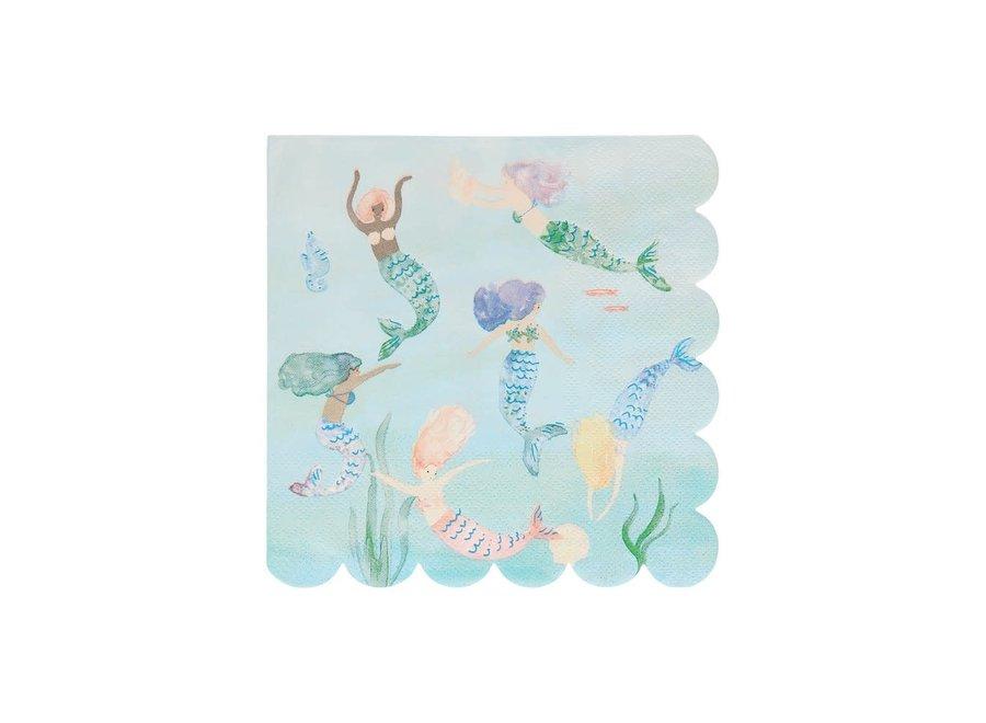 Mermaids Swimming Napkins
