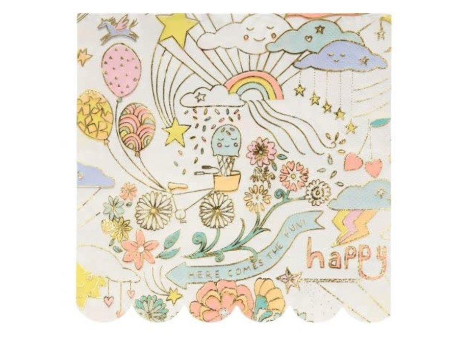 Happy Doodle Napkins