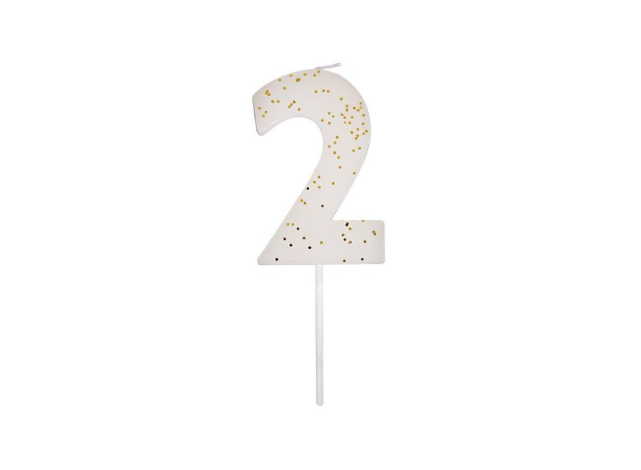 Glitter Number Candle 2