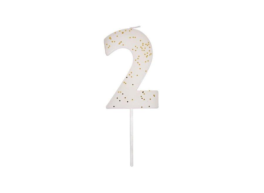 Meri Meri Glitter Number Candle 2