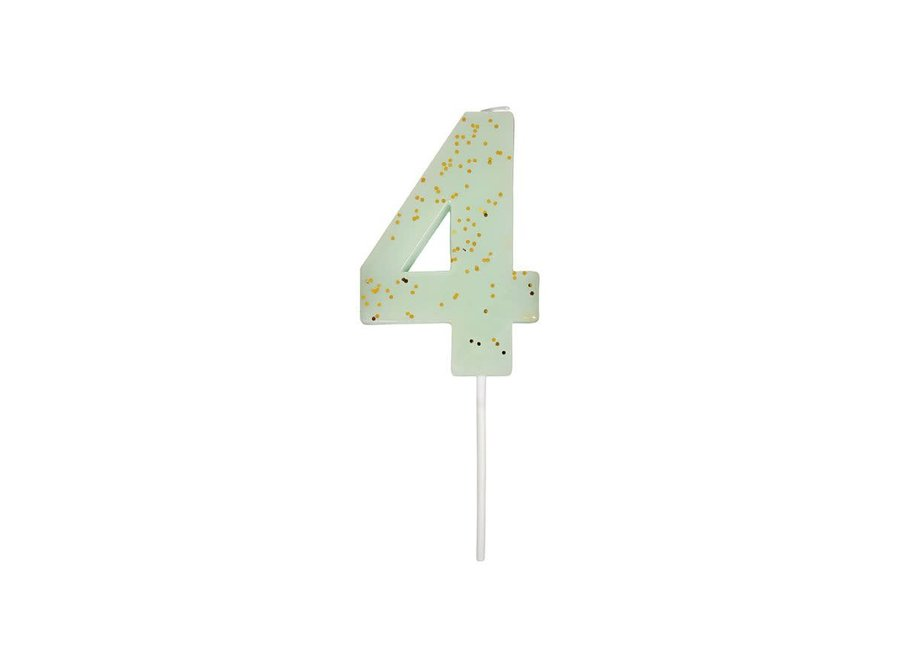 Glitter Number Candle 4