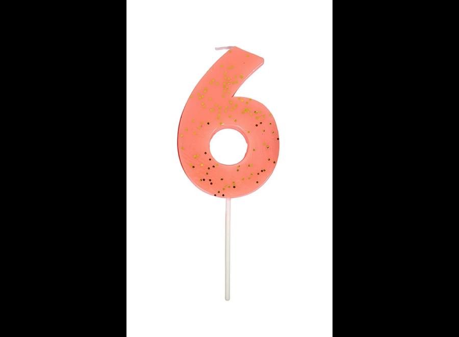 Meri Meri Glitter Number Candle 6
