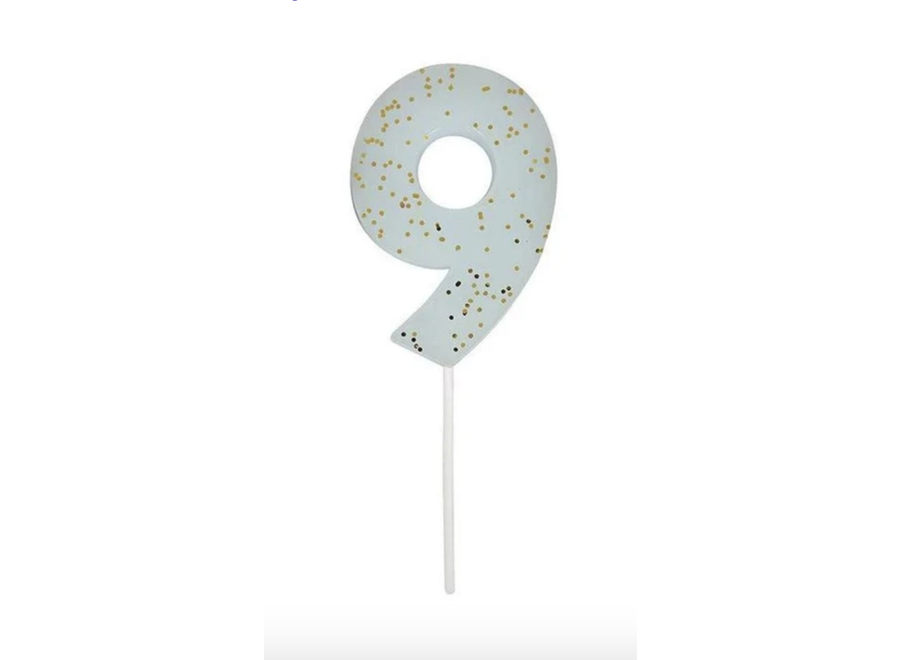 Glitter Number Candle 9