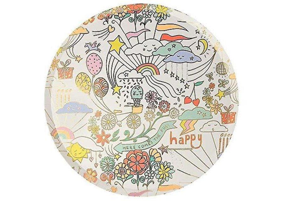 Meri Meri Happy Doodle Dinner Plates