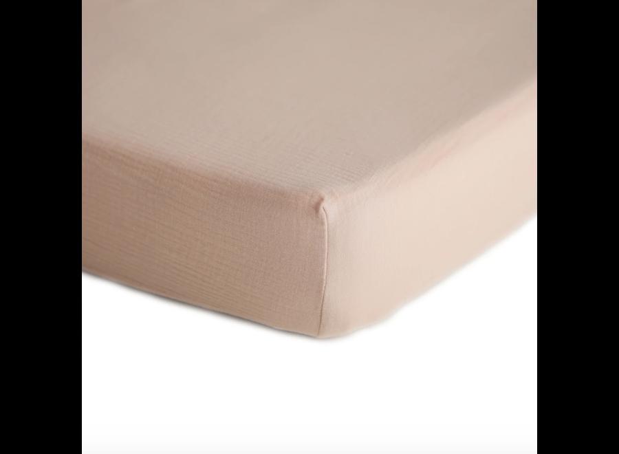 Mushie Crib Sheet Blush