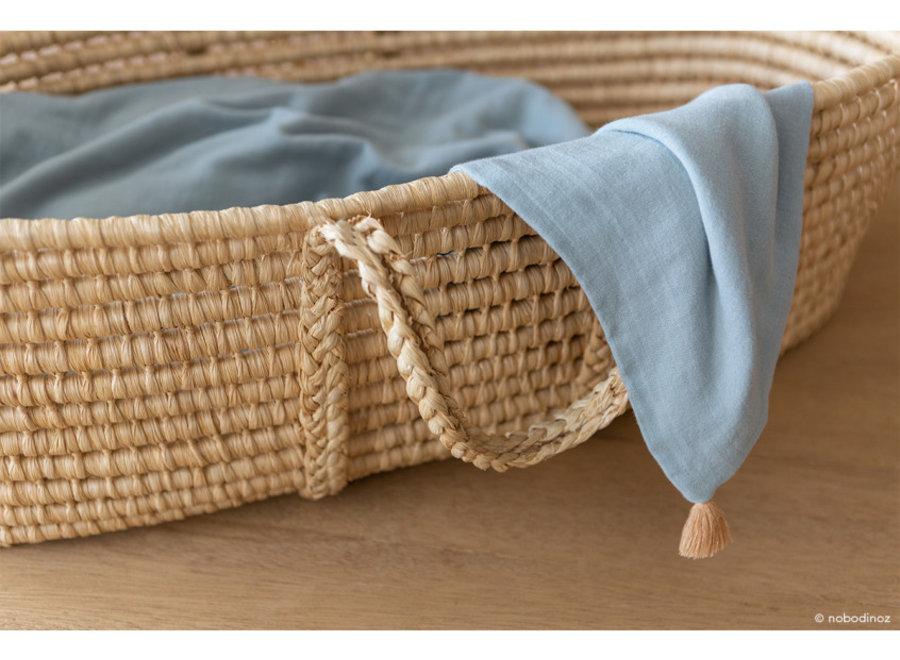 Nobodinoz Treasure Summer Blanket Riviera Blue