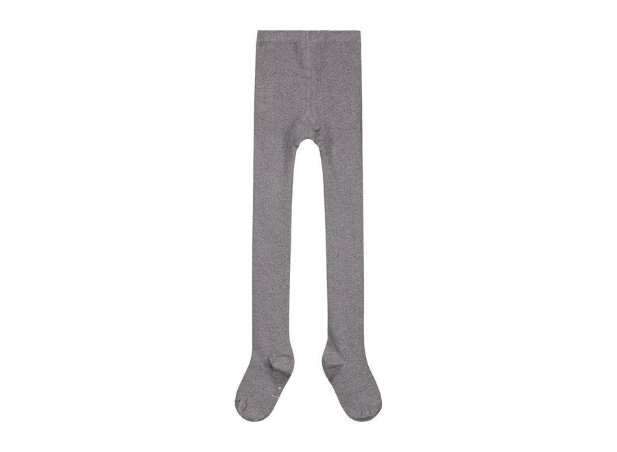Ribbed Tights Grey Melange