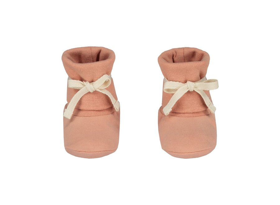 Baby Ribbed Booties Rustic Clay