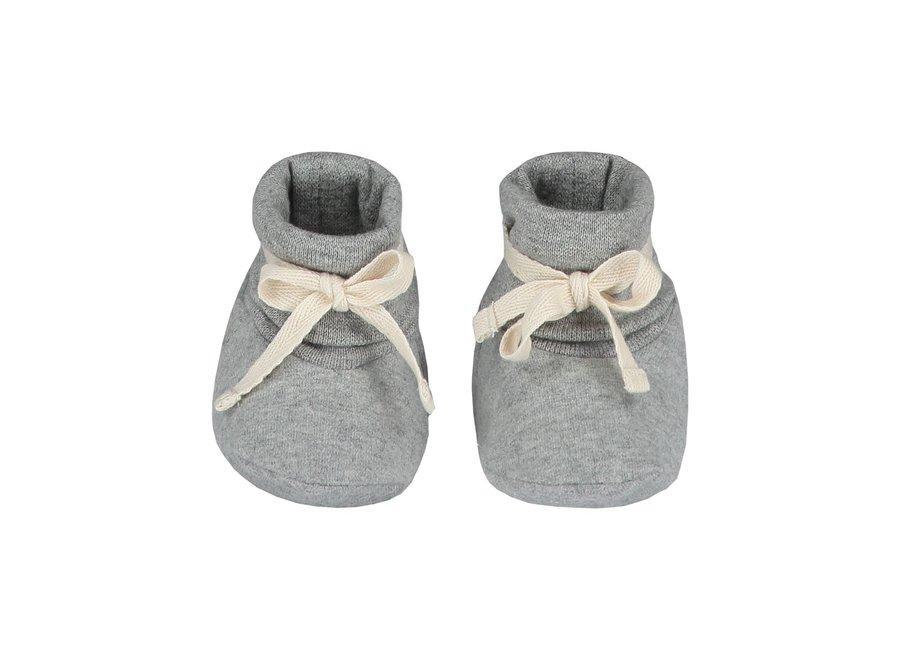 Baby Ribbed Booties Grey Melange