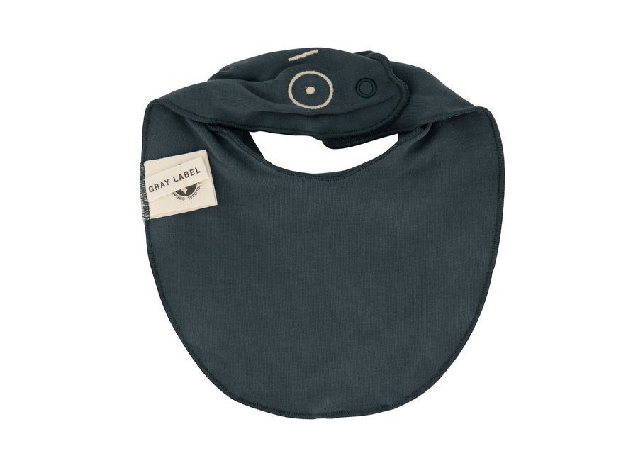 Gray Label Baby Bib Blue Grey