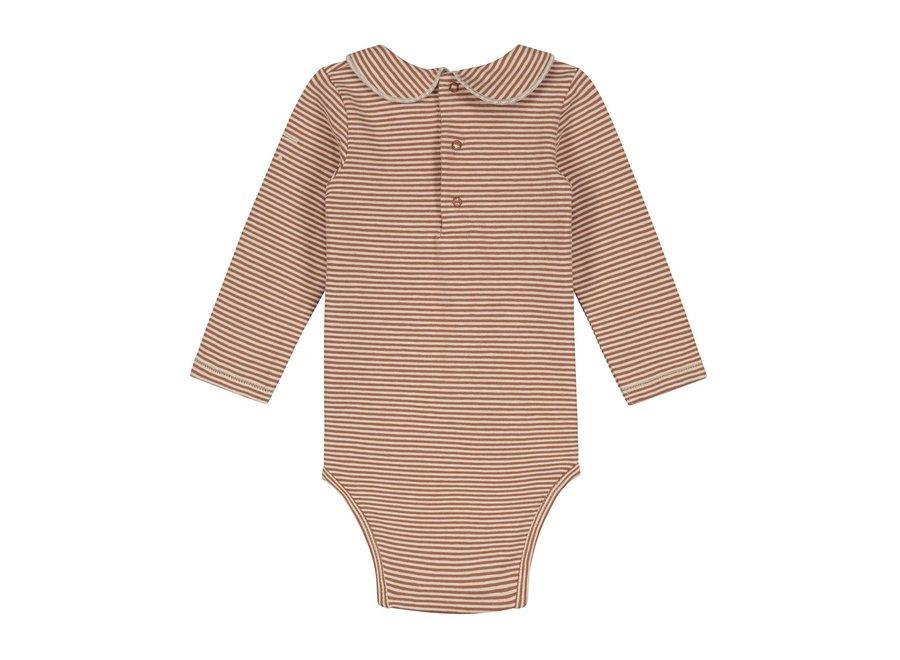Gray Label Baby Collar Onesie Autumn Cream