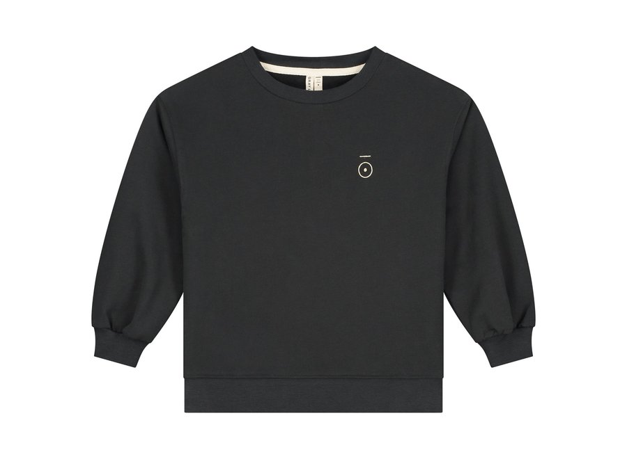 Dropped Shoulder Sweater Nearly Black
