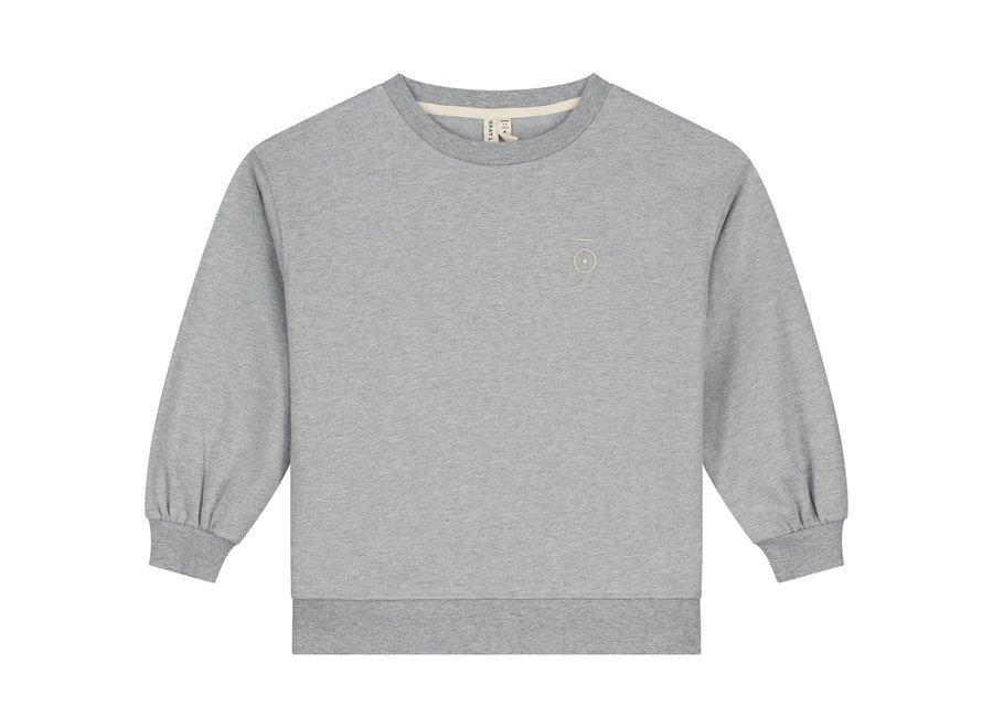 Dropped Shoulder Sweater Grey Melange