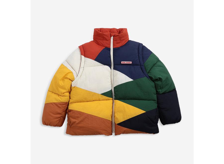 Padded Jacket Multi Color Block