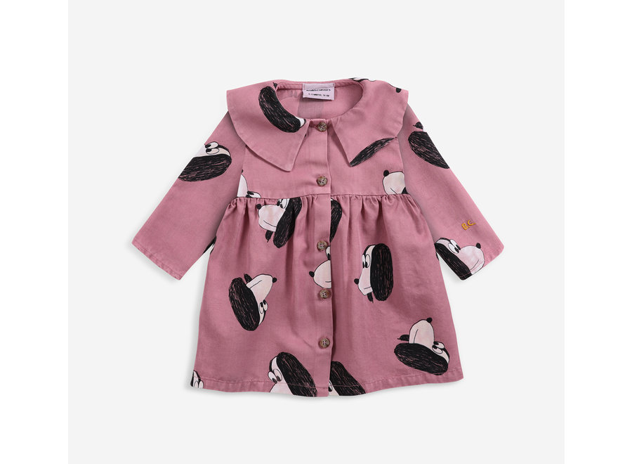 Woven Dress Doggie All Over Buttoned