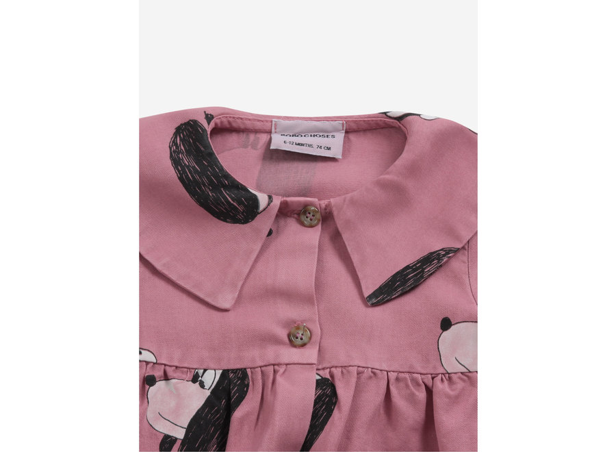Bobo Choses Woven Dress Doggie All Over Buttoned