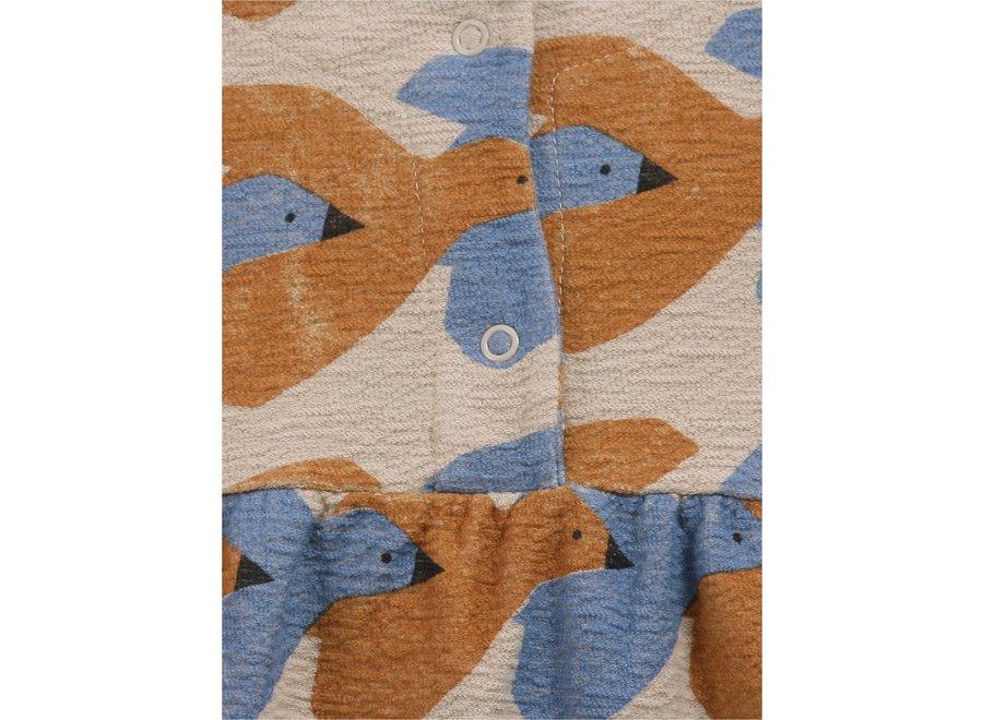 Bobo Choses Woven Midi Dress Birds