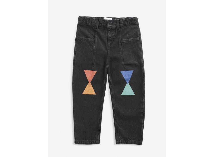Denim Pants Geometric