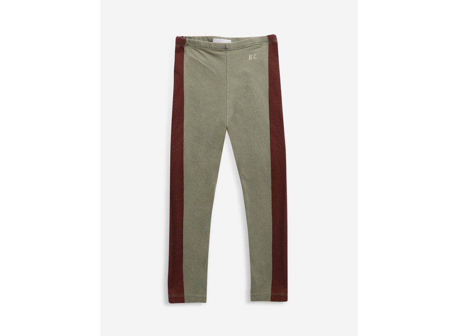Leggings Maroon Stripes