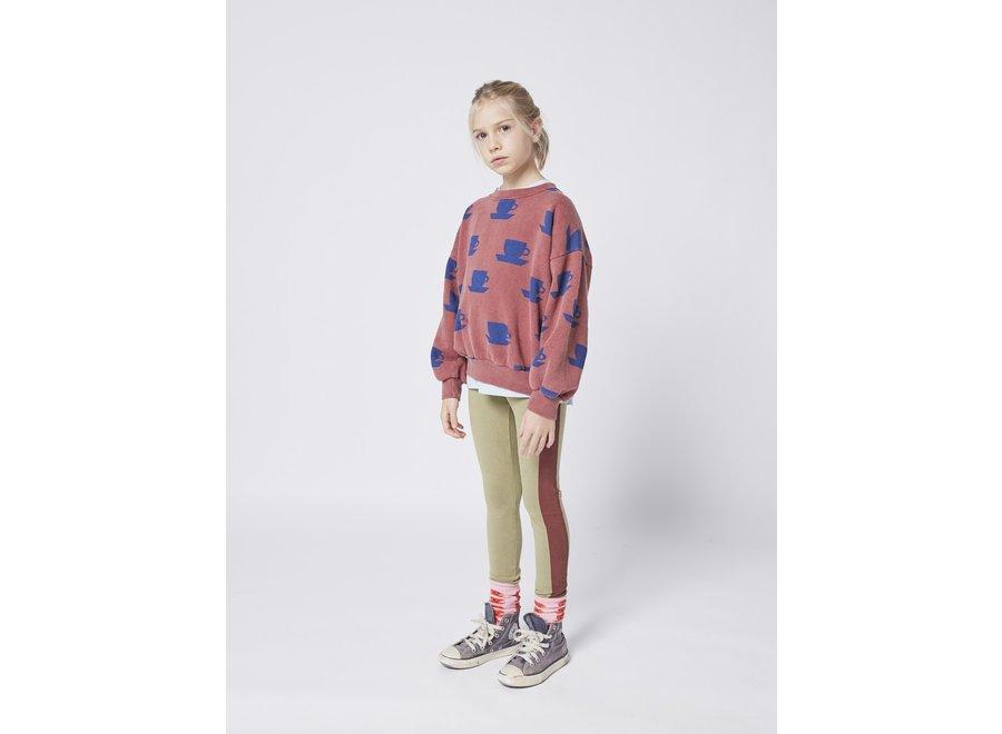 Bobo Choses Leggings Maroon Stripes