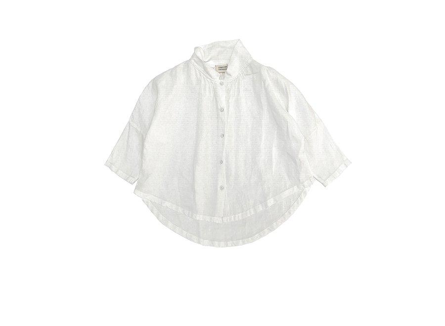 Long Live The Queen Collar Blouse White Linen