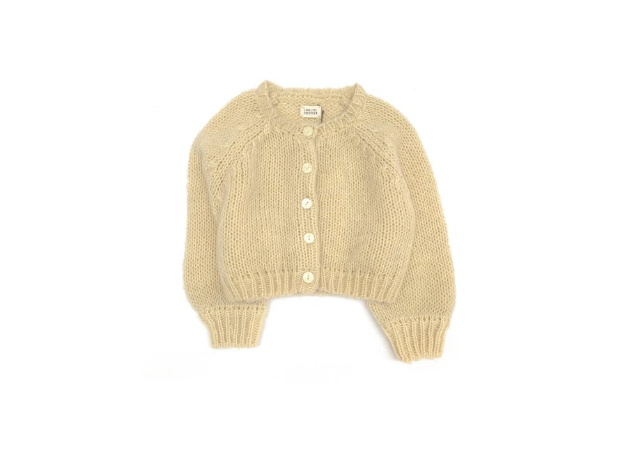 Long Live The Queen Cardigan Pale Yellow