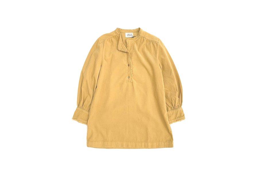 Minidress Ruffles Dirty Yellow