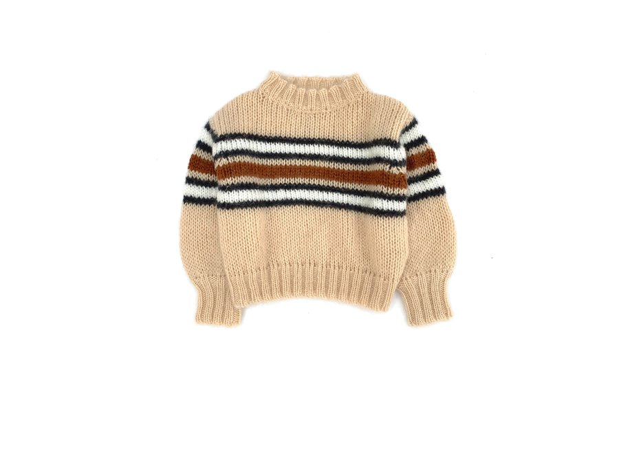 Long Live The Queen Striped Sweater Natural Stripe