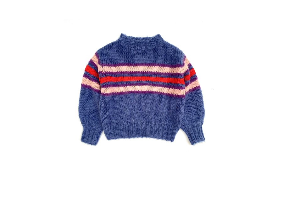 Long Live The Queen Striped Sweater Blue Stripe